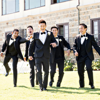 Groomsmen at the Bel Air Bay Club Wedding