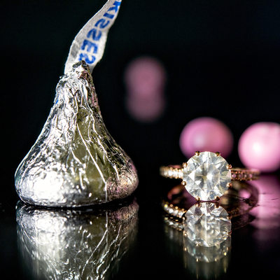 Wedding Details Ring and Kisses