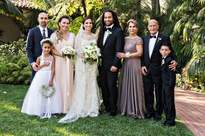 Family Portraits at Santa Barbara Wedding