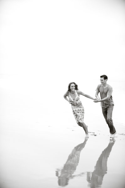 Candid Engagement Photographer Beach Location Shoot