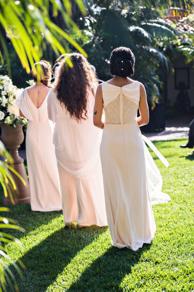 Bridesmaids Dresses Santa Barbara Wedding