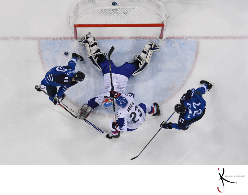 Olympics: Ice Hockey-Men Team Qualification Match for Quarterfinal - FIN-KOR