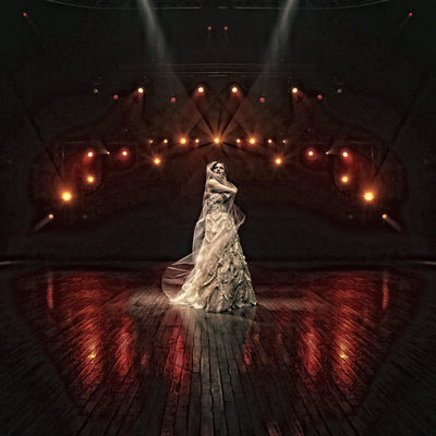 Bride on a concert stage