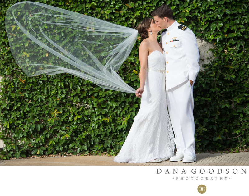 Military Wedding Photograph in St Augustine at White Room