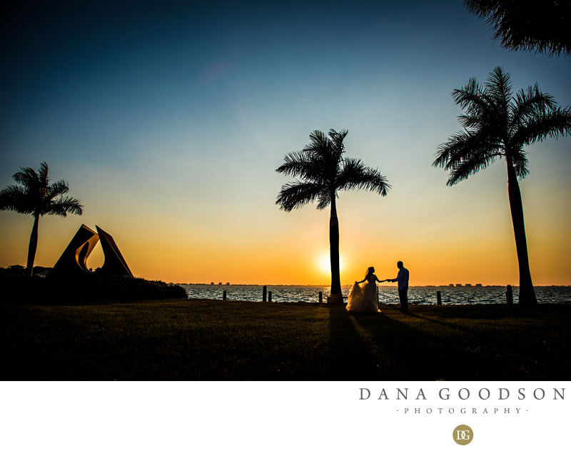 Sunset at Ringling Museum Wedding in Sarasota