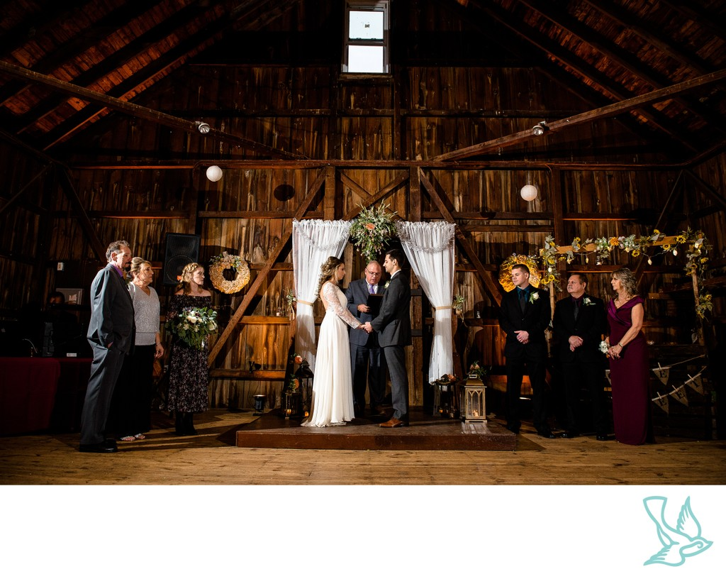 Rode's Barn Rustic Wedding Ceremony