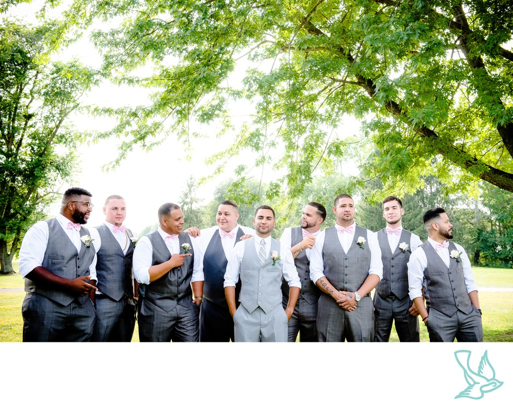 Groomsmen at Valleybrook Country Club, NJ