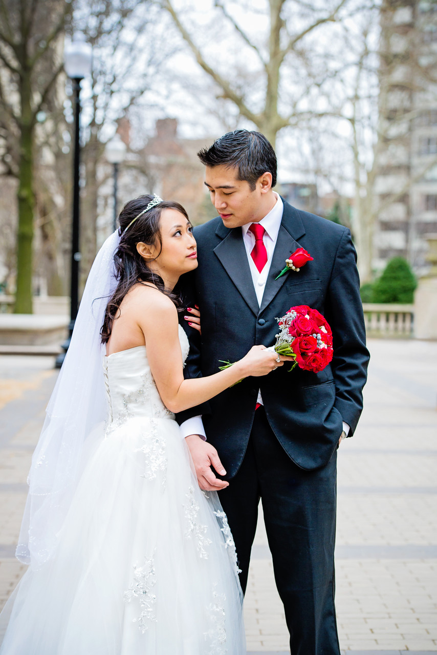 Rittenhouse Park Wedding Portrait