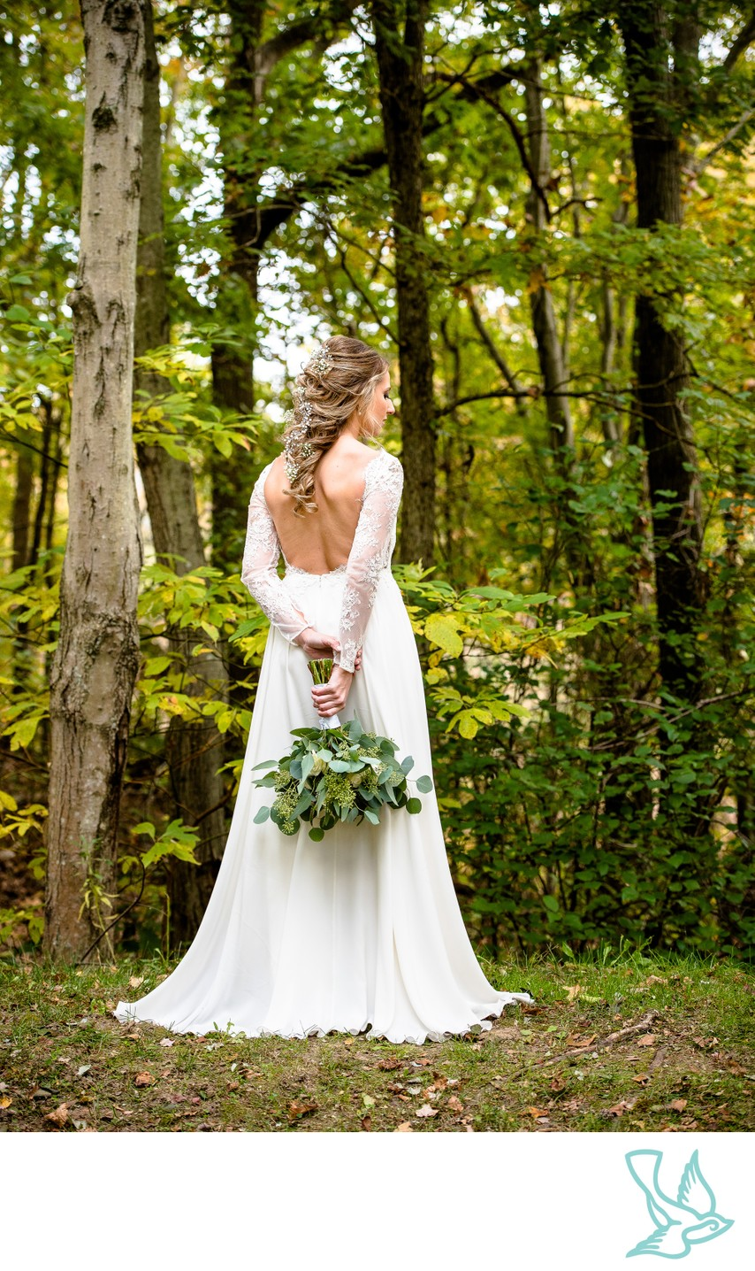 Rustic Wedding Bridal Portrait