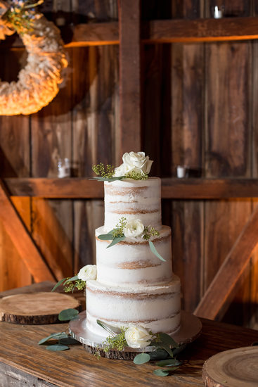 Rustic Wedding Cake at Rode's Barn