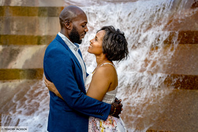 Fort Worth Water Gardens Engagement Session