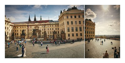 walking through Prague Castle
