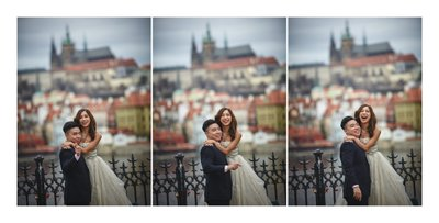 T&M during their Prague pre wedding