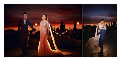 Elegant & intimate pre wedding portraits at night