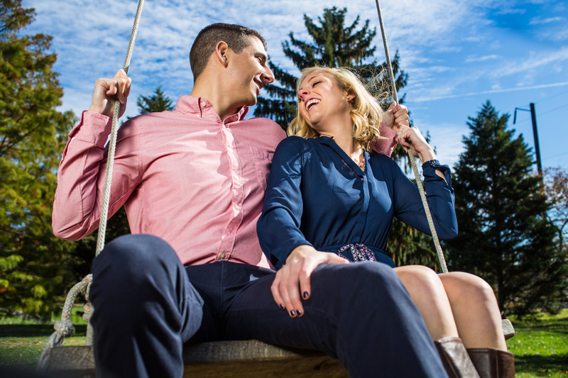 Engagement Photo at Swarthmore College