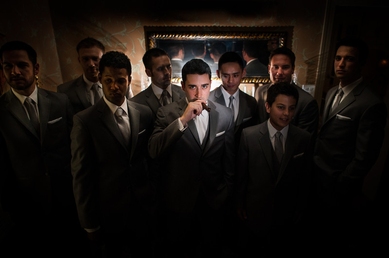 Groom And His Groomsmen Portrait in Philadelphia PA