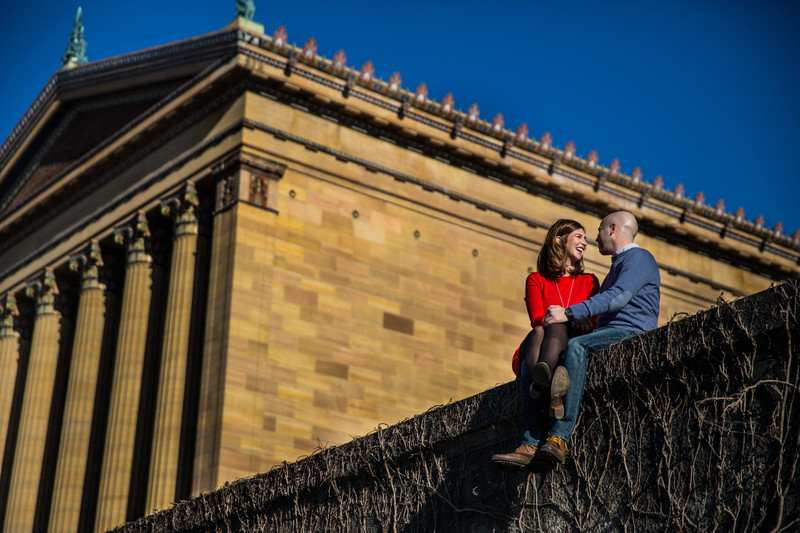 Art Museum Engagement Session In Philadelphia PA