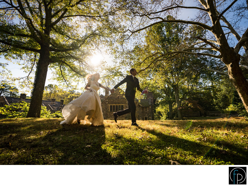 Ridley Creek State Park Wedding Portrait In The Fall
