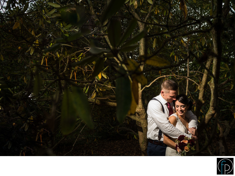 Tyler Arboretum Bride and Groom Portrait