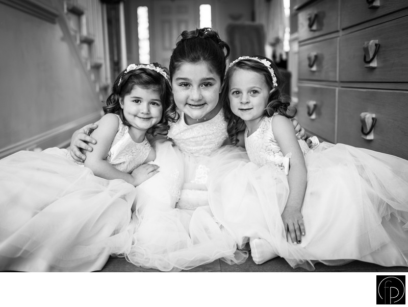 Beautiful Flower Girls Before The Philadelphia Wedding