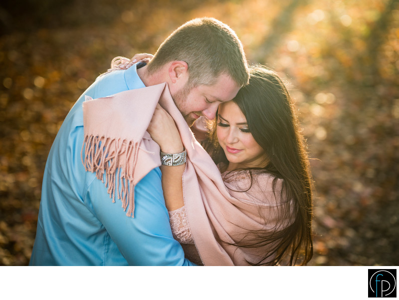 Fall engagement portrait at Marsh Creek