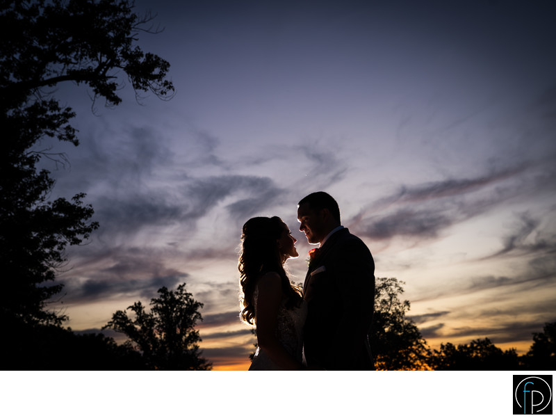 John James Audubon Center Wedding Sunset Portrait