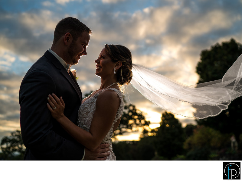 Manufacturers Country Club Wedding Sunset Portrait