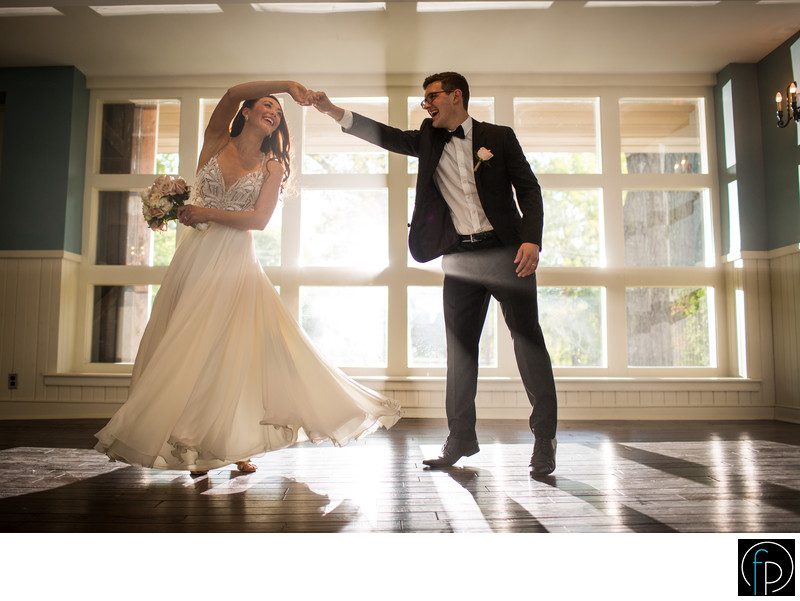 Bride Dancing with the Groom at Anthony Wayne House