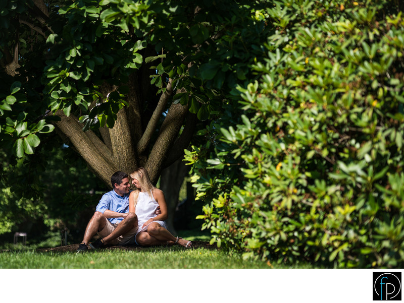Summer Engagement Portrait at Longwood Gardens
