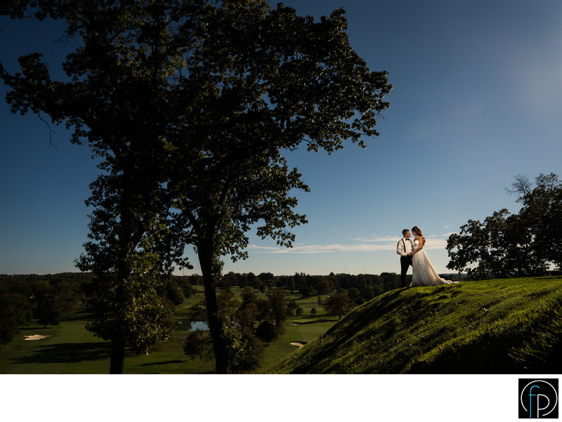 Scenic Portrait At The Manufacturers Club Wedding Venue