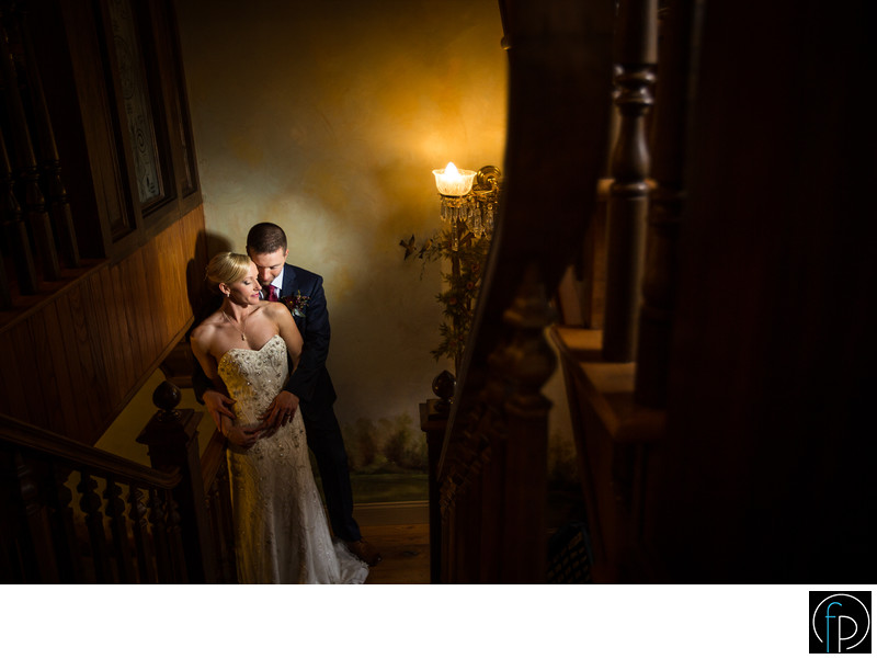 Romantic Portrait At Their Moonstone Manor Wedding