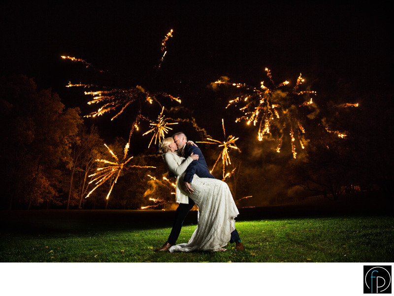 Fireworks To Finish Off The Moonstone Manor Wedding