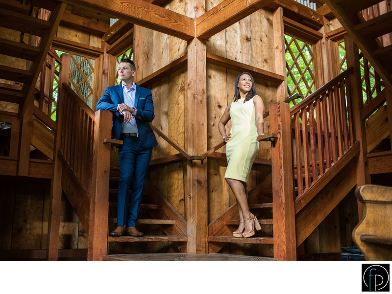 Engagement Photo At The Treehouse At Longwood Gardens