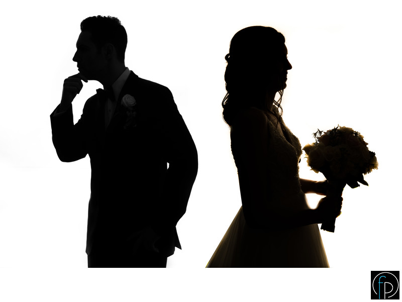 Fun Silhouette At A Downingtown Country Club Wedding
