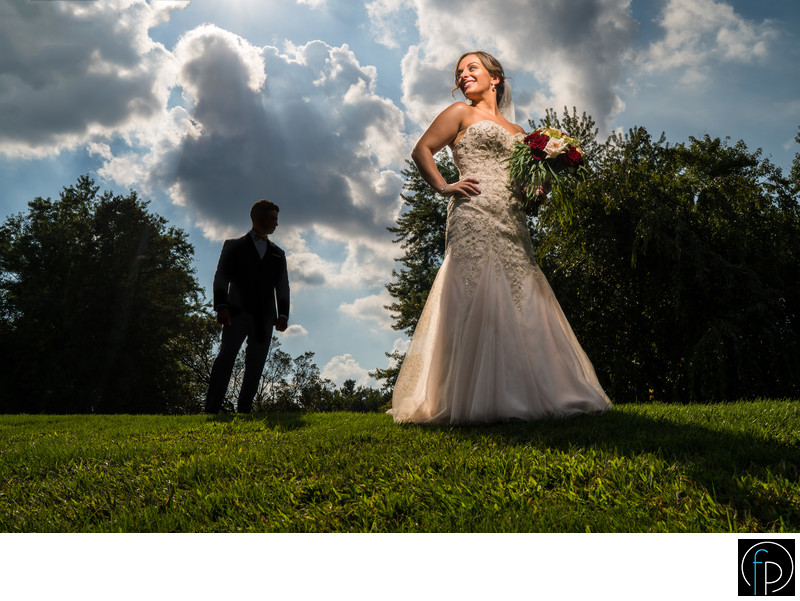 Downingtown Country Club Wedding Bride and Groom Photo