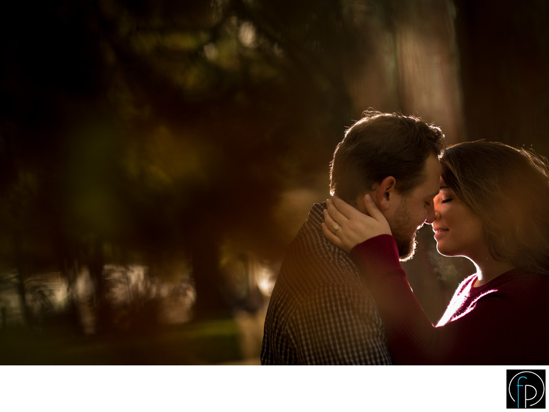 Romantic Engagement Photo At The Ridley Creek Mansion