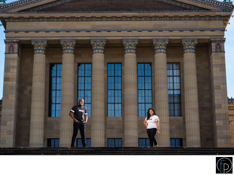Philadelphia Engagement Session At The Art Museum