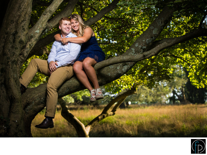 Engagement Photo At The Knox Estate In Valley Forge