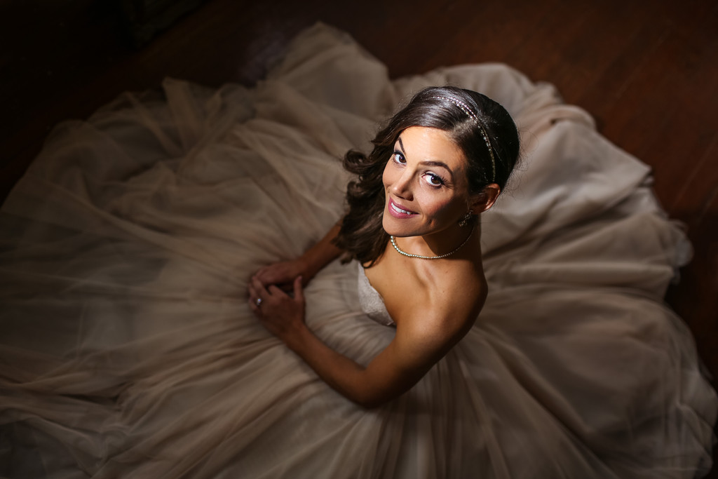 Bridal Portrait At A Historic Yellow Springs Wedding