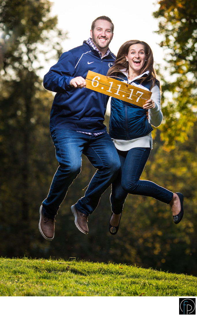 Engagement Save The Date Idea Valley Forge Park