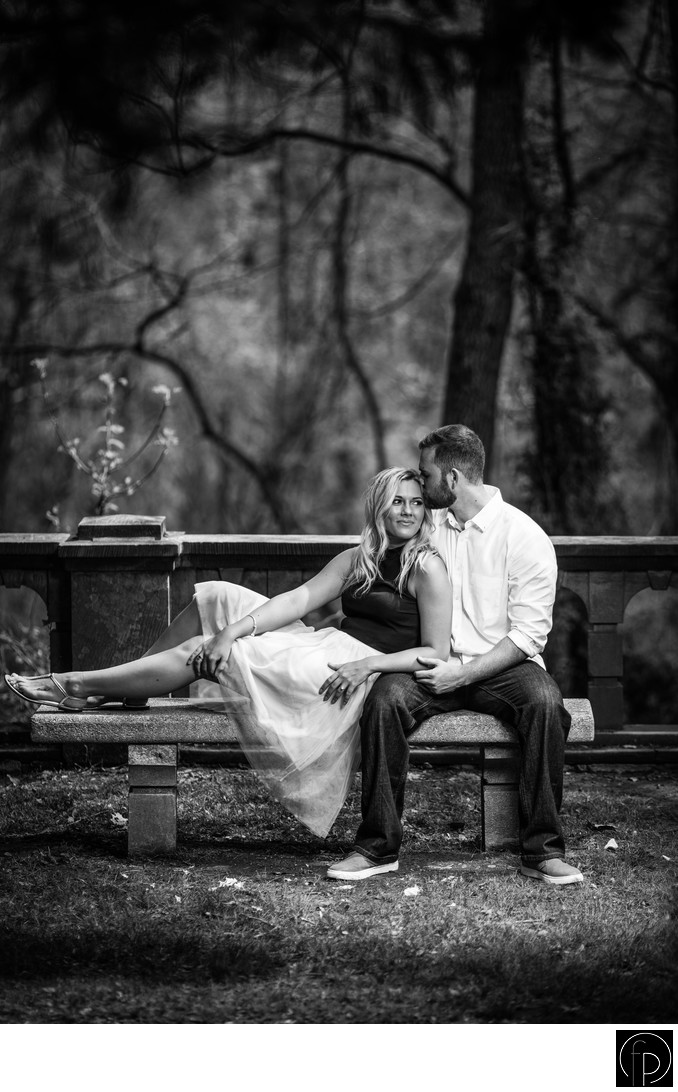 Romantic Engagement Portrait At Ridley Creek State Park