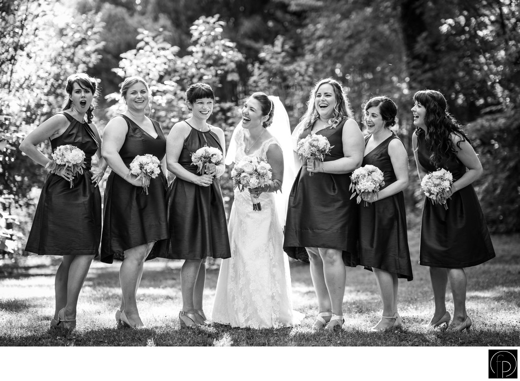 Laughing Bridal Party Portrait