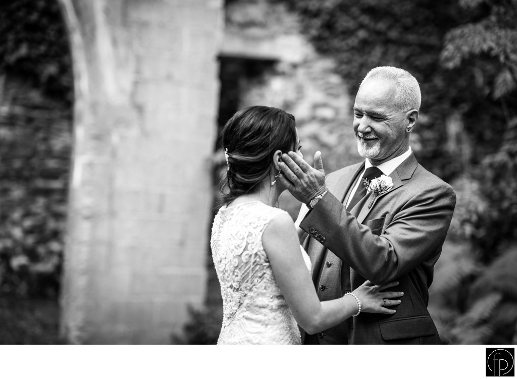 Dad Sees The Bride For The First Time at The Old Mill