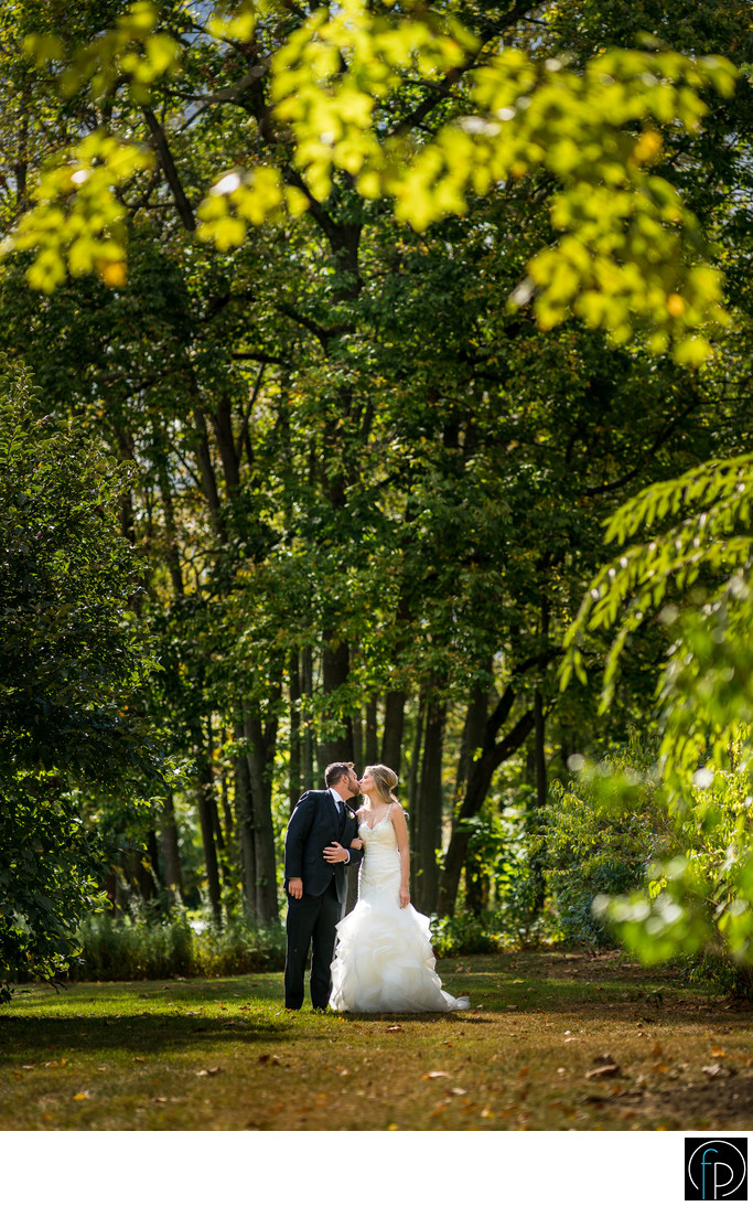 Bride and Groom Portrait At A Pomme Wedding