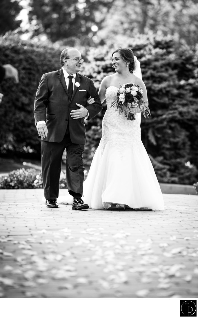 Bride and Father at Downingtown Country Club Ceremony