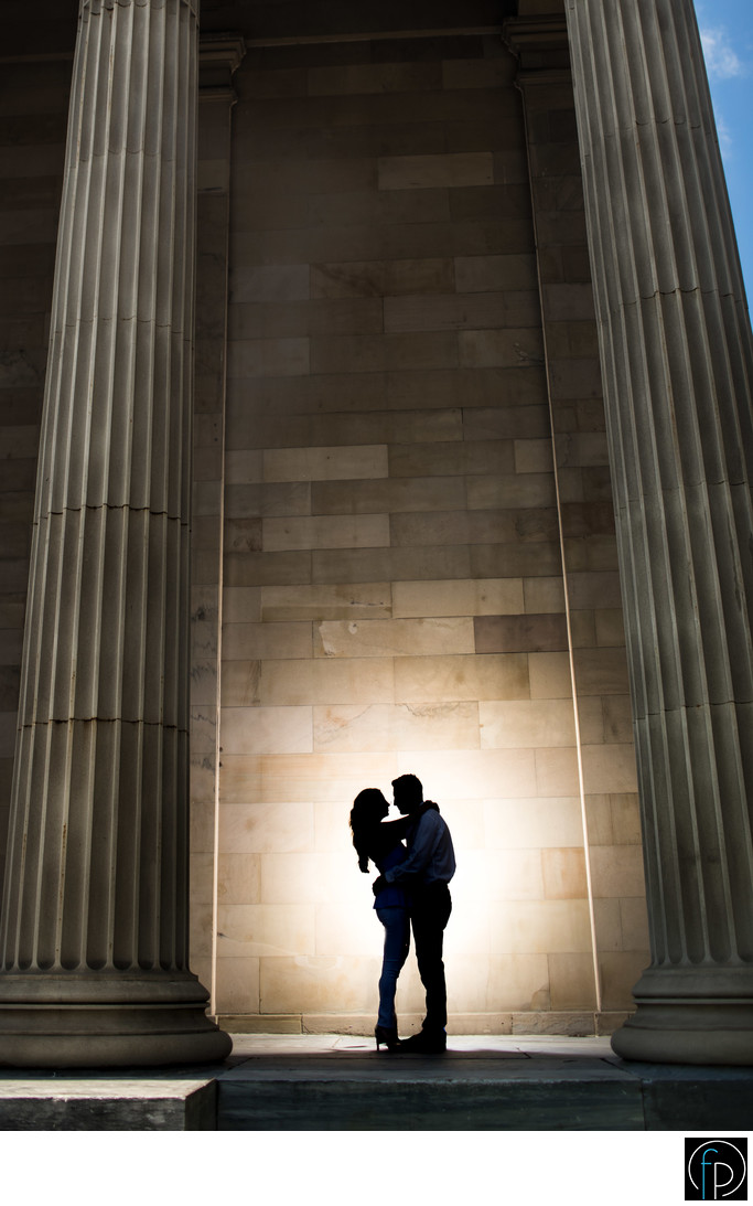 Engagement Photo At The West Chester Courthouse