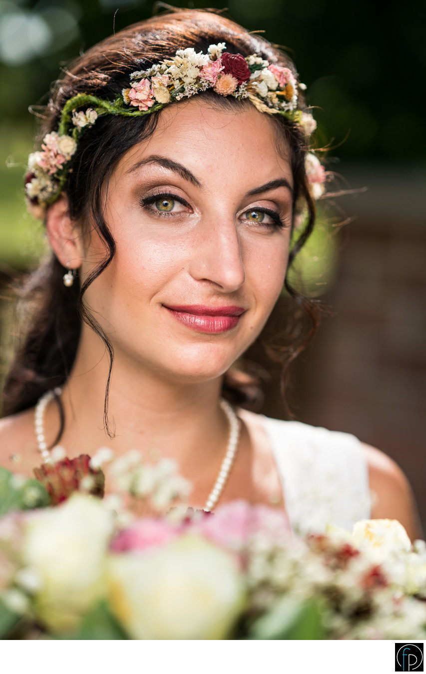 Portrait of Bride at Chester County PA Wedding