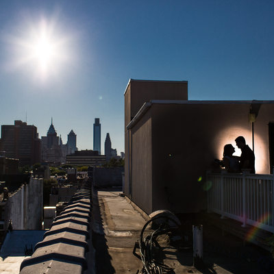 Philadelphia Rooftop Engagement Session