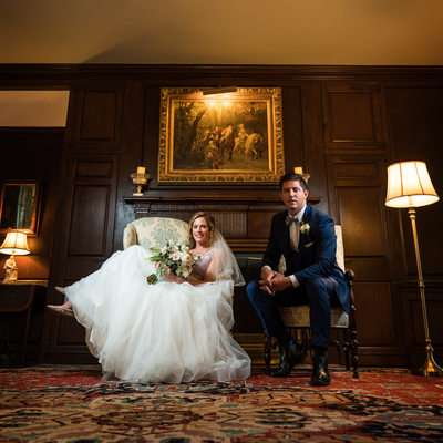 Bride and Groom Portrait Appleford Estate Wedding