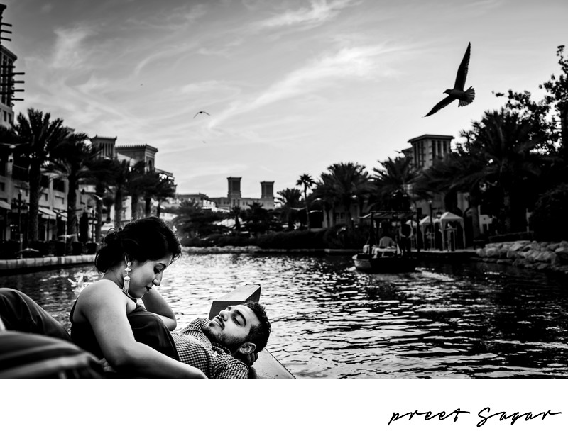 Al Qasr Jumeirah Beach Boat Engagement Photos